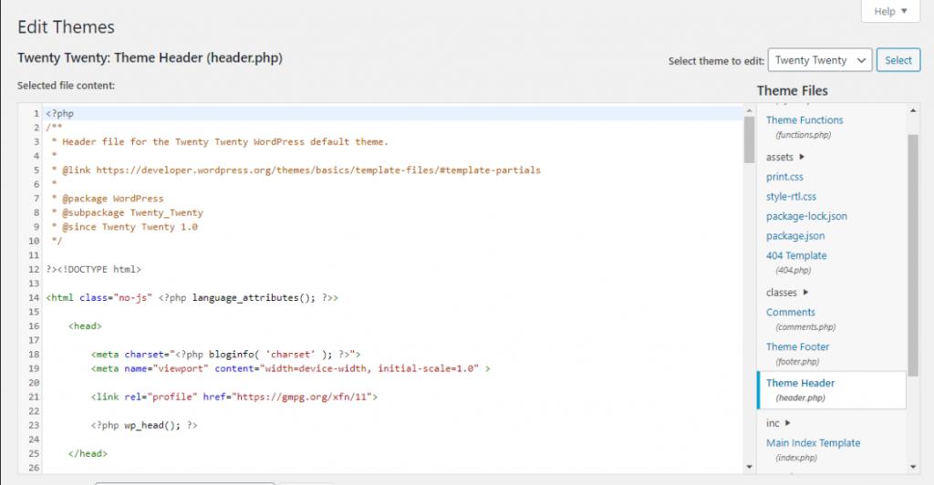 Mengedit file functions.php tema Anda