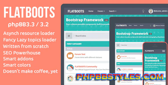 Review of Flatboots phpBB Forum Theme
